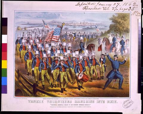 Yankee Volunteers Marching into Dixie American History Visual Arts Music Nineteenth Century Life Civil Wars Ethics