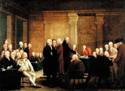 Continental Congress Voting Independence American History Famous Historical Events American Revolution Visual Arts