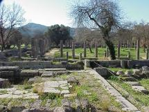 Ancient Olympics - Courtyard of the Palaestra