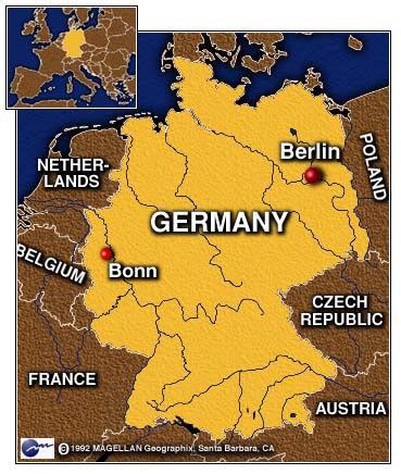 Bonn, Germany - Map Locator
