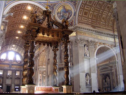 Altar at St. Peter's Basilica in the Vatican