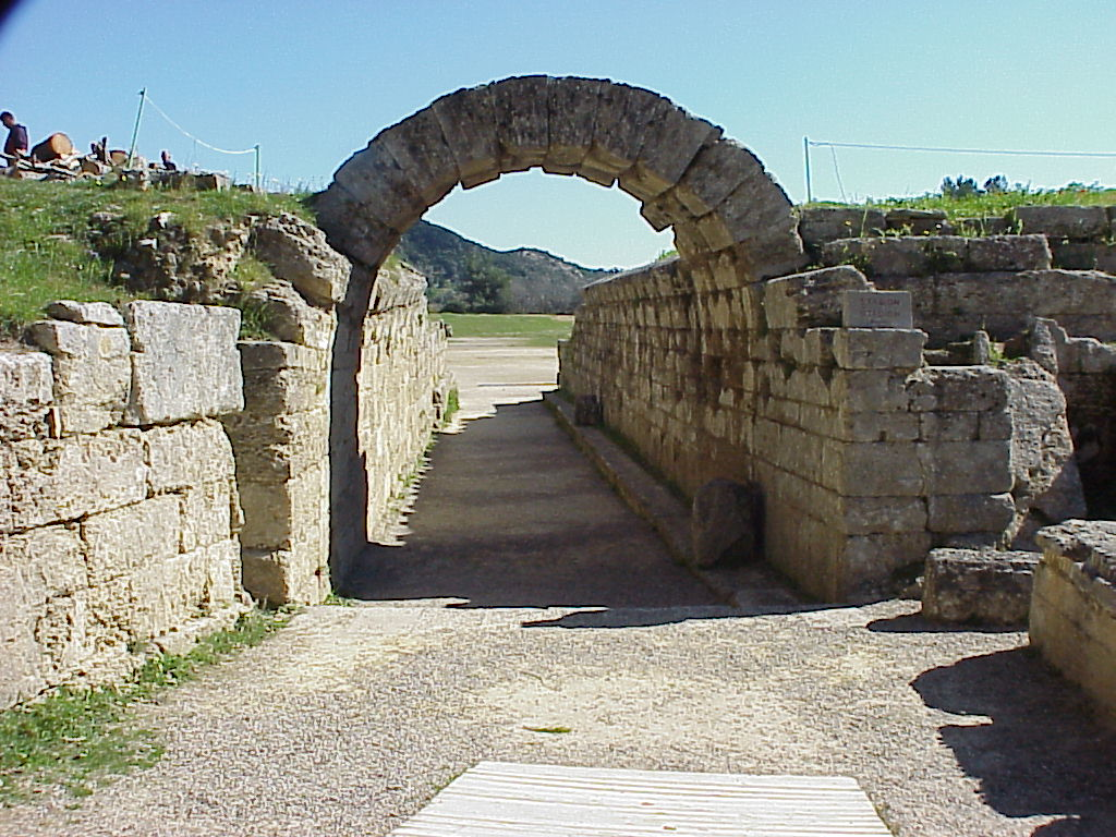 Entry Arch At The Ancient Olympic Stadium