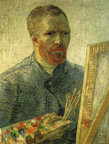 van Gogh - Self Portrait in Front of Easel, 1888 Biographies Famous People Social Studies Visual Arts Nineteenth Century Life Tragedies and Triumphs