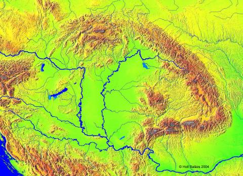 Satellite View of the Carpathian Basin History Geography