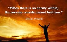 "What Does It Mean to Have an ""Enemy Within?"