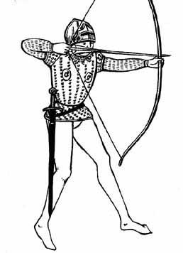 Drawing of the English Longbow