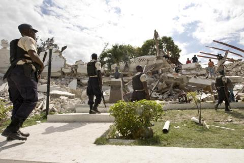 Port-au-Prince - Collapsed Justice Palace Disasters Famous Historical Events Geography Social Studies World History