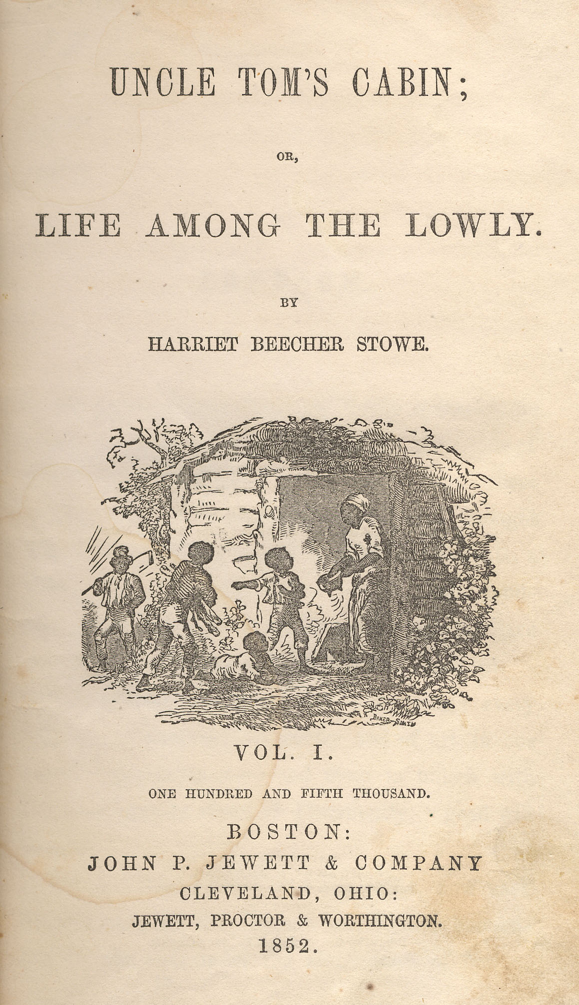 Uncle Tom S Cabin First Edition