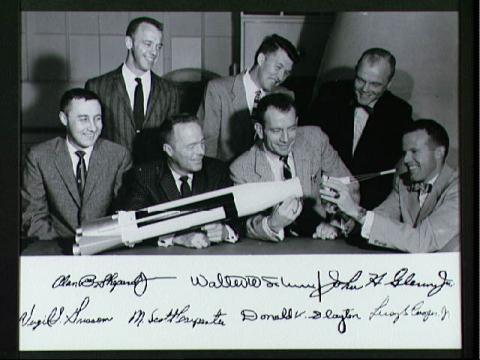 Mercury Seven Astronauts American History Famous Historical Events Aviation & Space Exploration Famous People
