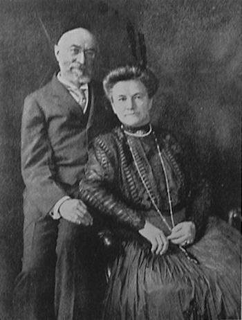 Isador and Ida Straus  who were passengers on the RMS Titanic