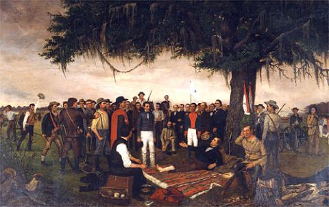 Surrender of Santa Anna - William Huddle American History Famous Historical Events Social Studies Tragedies and Triumphs