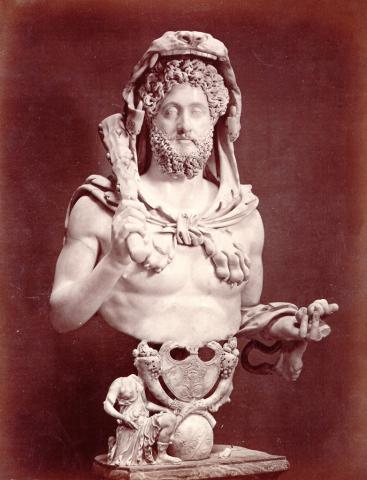 Bust of Commodus Dressed as Hercules Visual Arts Ancient Places and/or Civilizations Legends and Legendary People