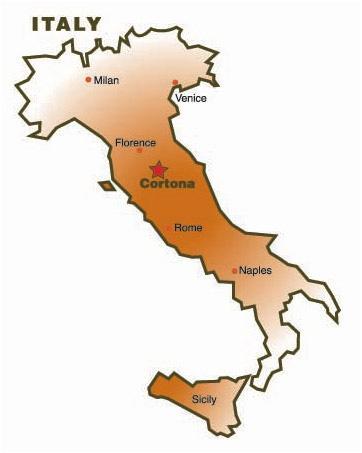 Cortona - Map Locator
