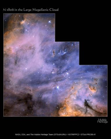 N180B in a Large Magellanic Cloud Astronomy Visual Arts STEM Aviation & Space Exploration