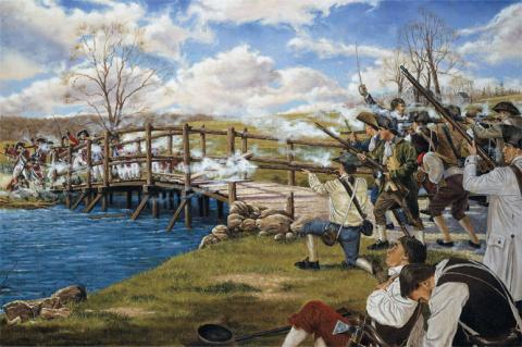 LEXINGTON AND CONCORD (Illustration) Famous Historical Events Famous People Law and Politics Social Studies Revolutionary Wars Poetry American History American Revolution