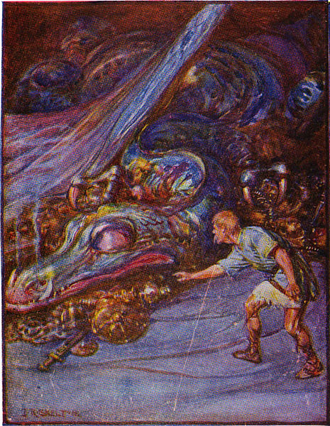 beowulfs battles Beowulf returns home and eventually becomes king of his own people one day, fifty years after beowulf's battle with grendel's mother, a slave steals a golden cup.