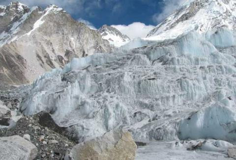 Khumbu Icefall at Mt Everest Geography STEM