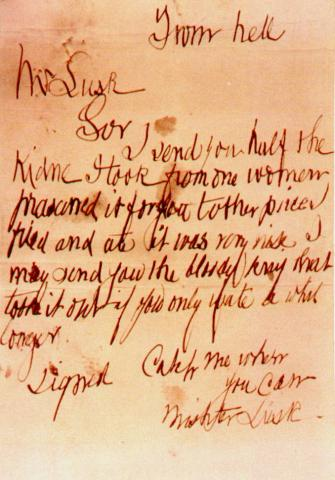 Letter from Jack the Ripper: From Hell 1888 Famous People Film Legends and Legendary People Crimes and Criminals