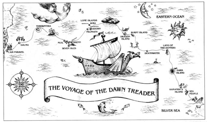 map for voyage of the dawn treader