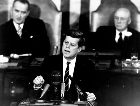 President Kennedy - Speech Photo American History Famous Historical Events Famous People Social Studies Aviation & Space Exploration American Presidents
