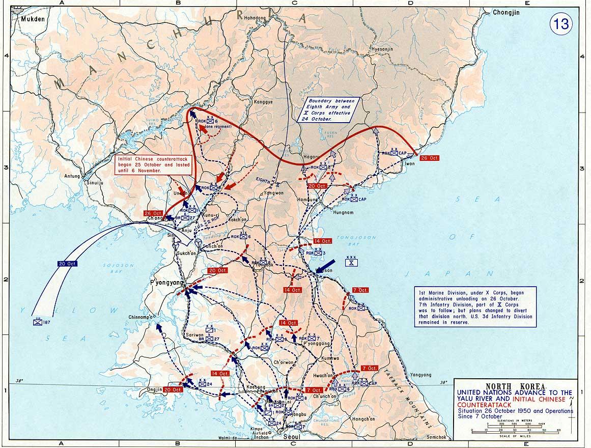 North Korea Troop Positions Map