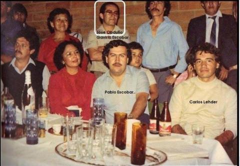 Carlos Lehder With Pablo Escobar