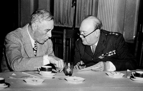 FDR and Churchill - Photo Famous People Social Studies World War II American Presidents