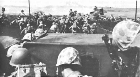Marines Coming Ashore in Iwo