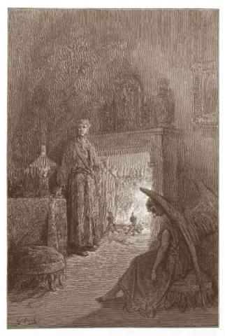 Dore Illustration - Raven - Ember Ghosts Poetry American History Social Studies Visual Arts Nineteenth Century Life