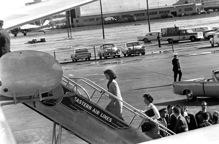 5ac45a6da Mrs. Kennedy Boards Air Force One - Alone American History Government The  Kennedys Visual Arts