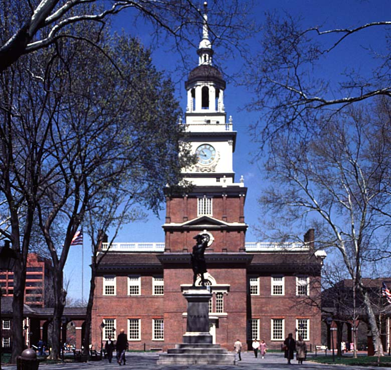Independence hall philadelphia geography american history government