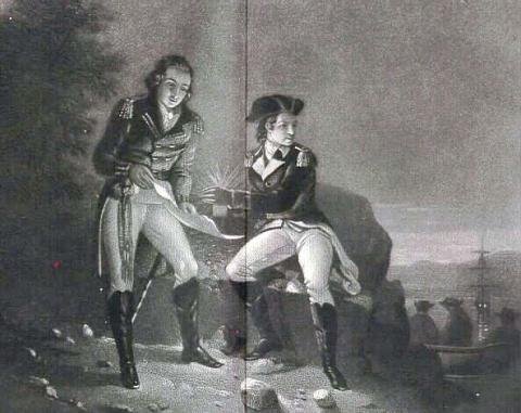 Benedict Arnold with John Andre