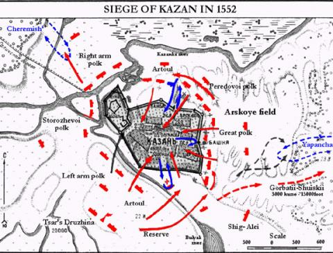 Kazan Attack Plan in 1552 Biographies Famous People Social Studies World History Russian Studies Geography