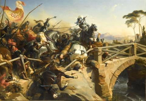 Battle of Garigliano - 1503 World History Medieval Times Visual Arts