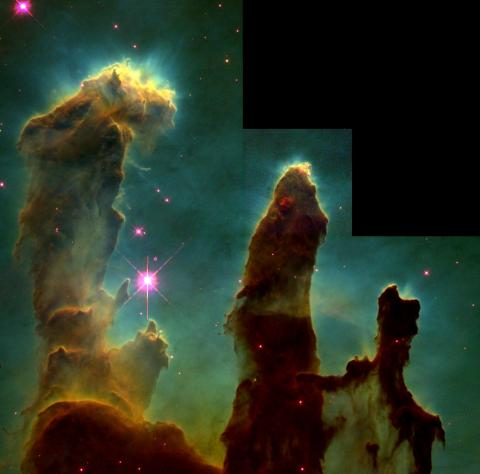 Gaseous Pillars of the M16 Nebula Education Astronomy Aviation & Space Exploration STEM