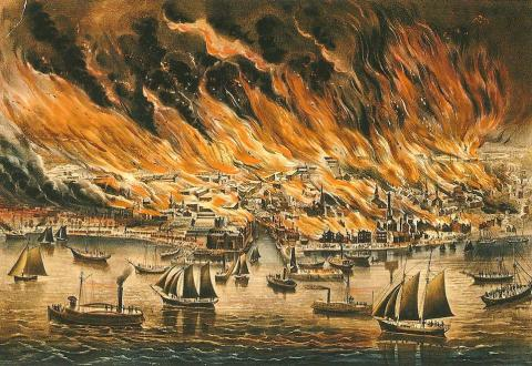 Great Fire of 1871 (Illustration) Nineteenth Century Life Awesome Radio - Narrated Stories Famous People American History Famous Historical Events Social Studies Disasters