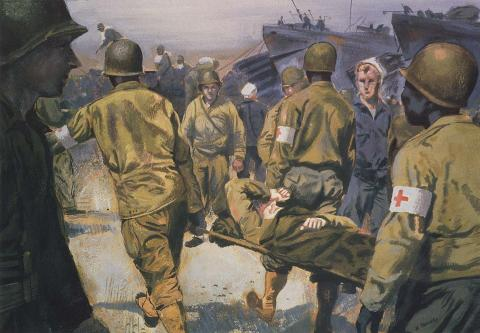 Evacuating Wounded Soldiers Famous Historical Events Visual Arts World War II Disasters