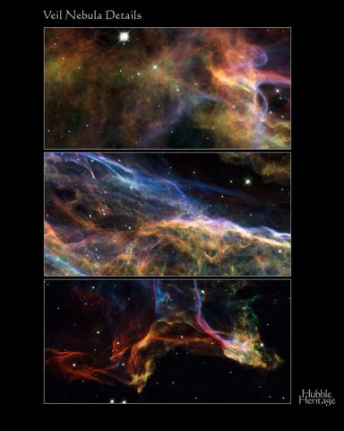 Wispy Views of the Veil Nebula Astronomy Aviation & Space Exploration STEM Visual Arts
