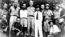 Ho Chi Minh with Americans in 1945