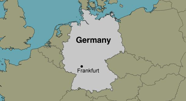 Frankfurt Germany Location Map - Germany map location