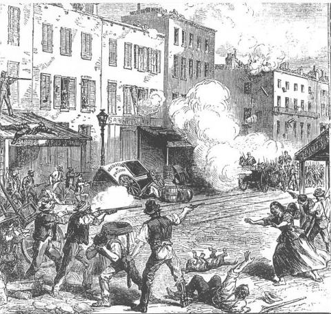 1863 DRAFT RIOTS (Illustration) Ethics Law and Politics African American History Film American History Civil Wars Famous Historical Events Social Studies Nineteenth Century Life